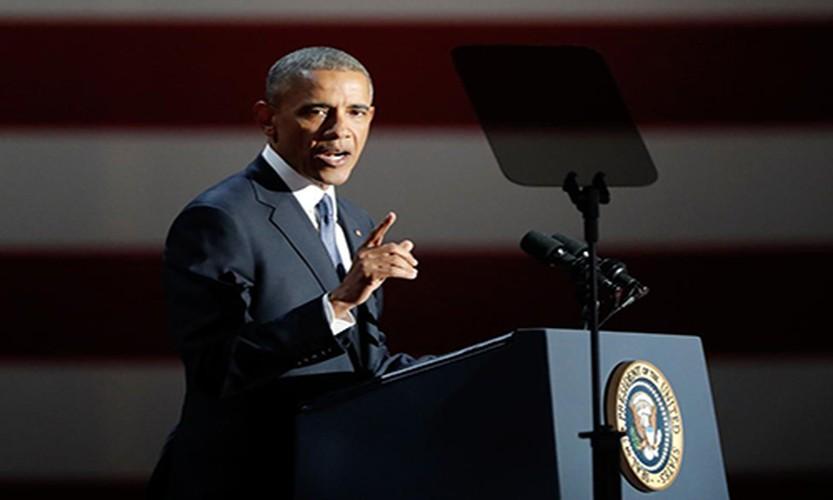 Hinh anh Tong thong Obama trong buoi phat bieu chia tay-Hinh-4