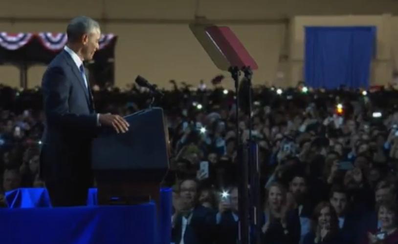 Hinh anh Tong thong Obama trong buoi phat bieu chia tay-Hinh-7