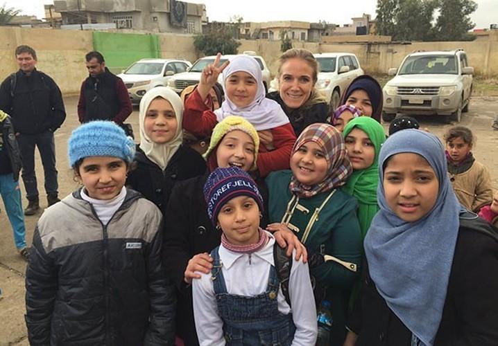 Anh: Hoc sinh Iraq no nuc di hoc o thanh pho Mosul