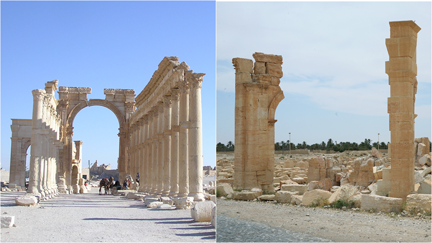 Hinh anh thanh pho Palmyra truoc va sau giai phong lan 2-Hinh-3