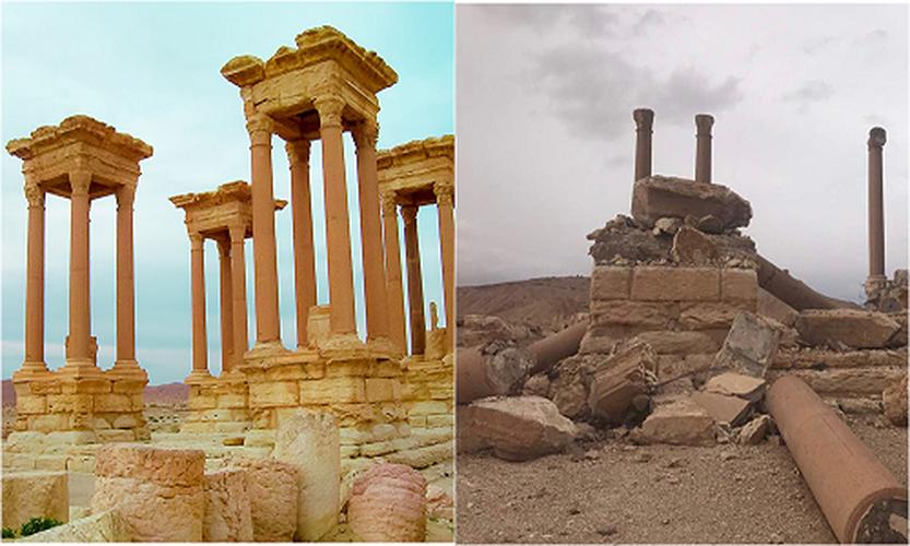 Hinh anh thanh pho Palmyra truoc va sau giai phong lan 2-Hinh-4