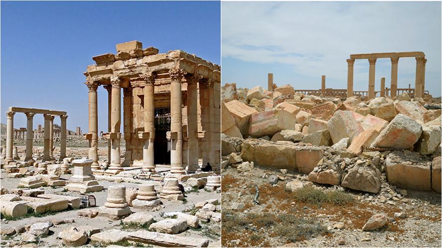 Hinh anh thanh pho Palmyra truoc va sau giai phong lan 2