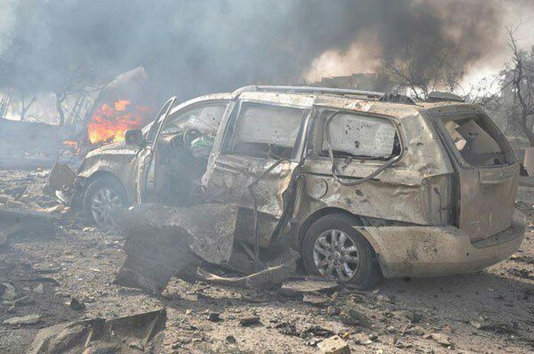 Hien truong danh bom kep o Damascus, hon 130 nguoi thuong vong