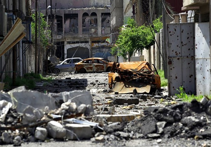 Anh: Luc luong Iraq giai phong 30% Thanh co Mosul-Hinh-6