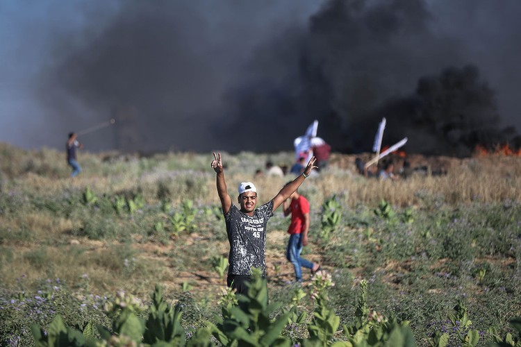 Anh: Bieu tinh du doi o Dai Gaza vi thieu dien-Hinh-3