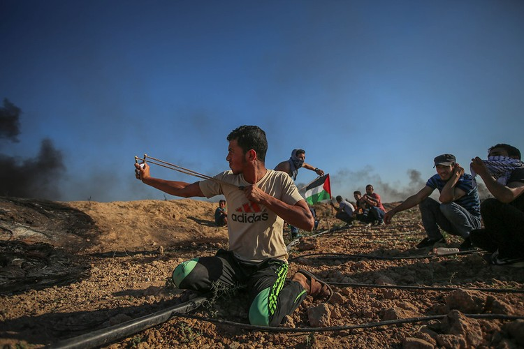 Anh: Bieu tinh du doi o Dai Gaza vi thieu dien-Hinh-4