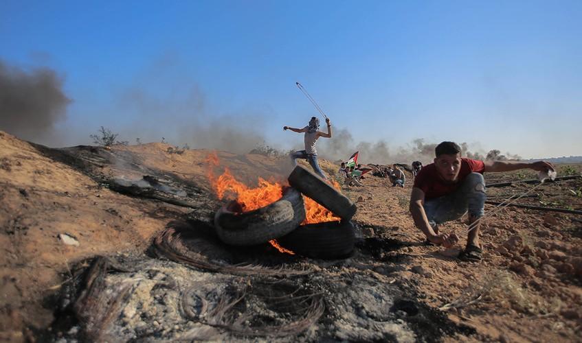 Anh: Bieu tinh du doi o Dai Gaza vi thieu dien-Hinh-8