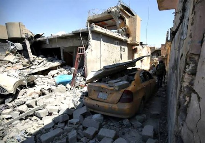 Anh: Quan doi Iraq thoc sau vao khu pho co Mosul-Hinh-4