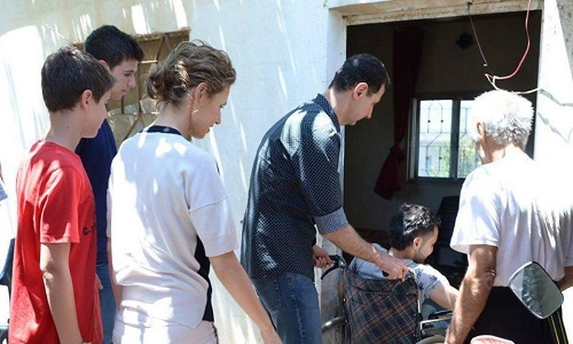 Anh: Tong thong Assad tham binh si Syria bi thuong o Hama-Hinh-3