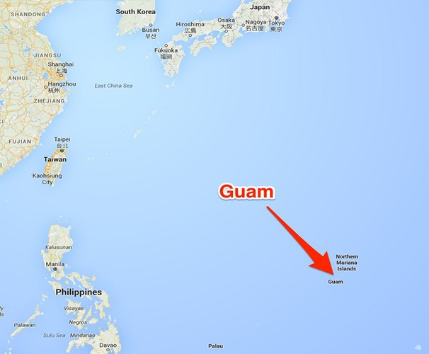 Dot nhap dao Guam cua My ma Trieu Tien dinh tan cong