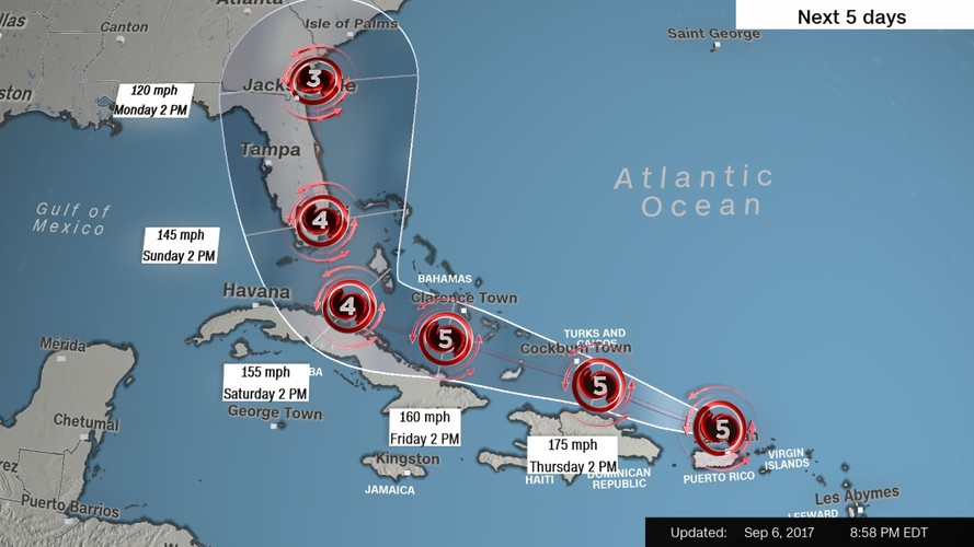 Kinh hoang sieu bao Irma tan pha vung Caribe