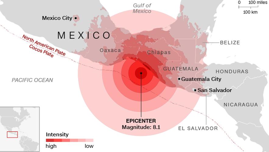 Kinh hoang dong dat gay song than o Mexico, 60 nguoi chet