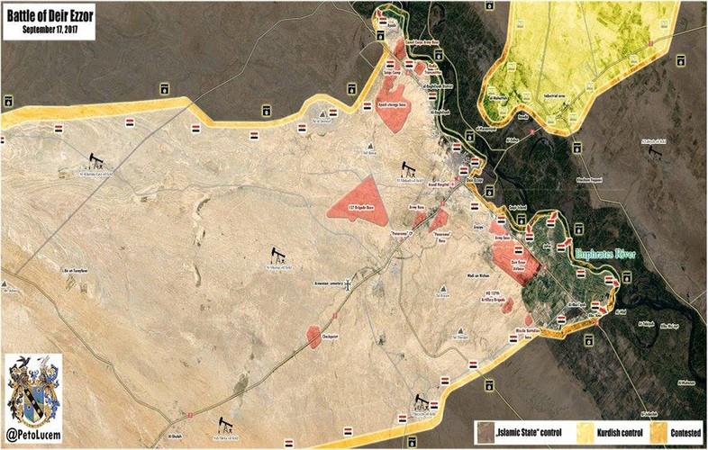 Anh: Quan doi Syria tan cong vu bao o Deir Ezzor