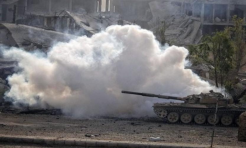 Anh: Quan Syria tan cong du doi khung bo o Dong Damascus