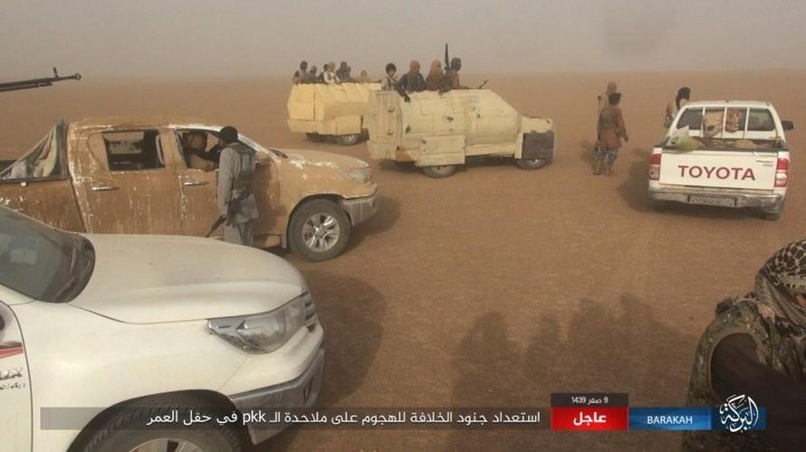 Anh: IS phan cong SDF o mo dau lon nhat Syria