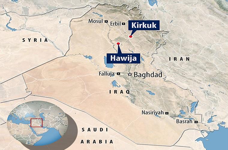 Kinh hoang ben trong ho chon tap the cua IS o Iraq