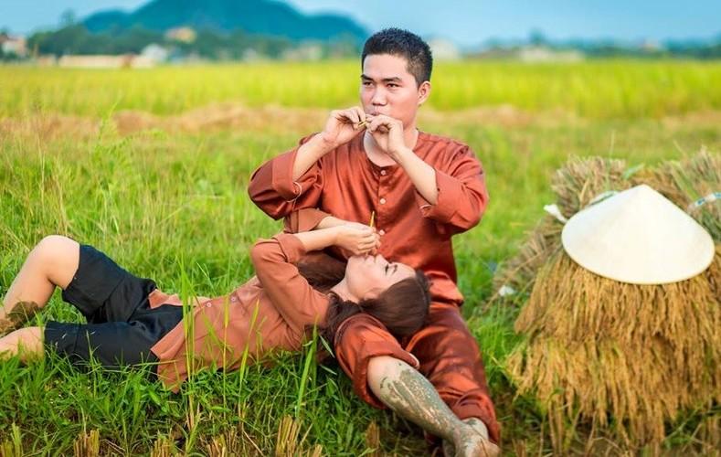 Anh cuoi tuyet dep giua dong lua chin cua cap doi xu Nghe-Hinh-7