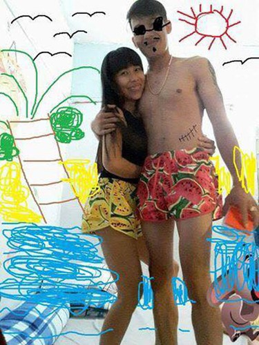 Cai ket lan lon cho cap doi nho dan mang Photoshop canh di bien-Hinh-7