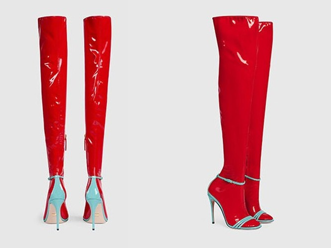 Hot hoang voi thiet ke sandals kem tat nhua cua Gucci-Hinh-4