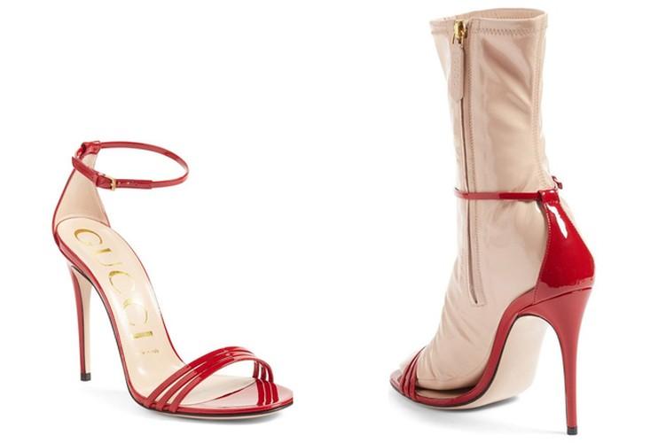Hot hoang voi thiet ke sandals kem tat nhua cua Gucci
