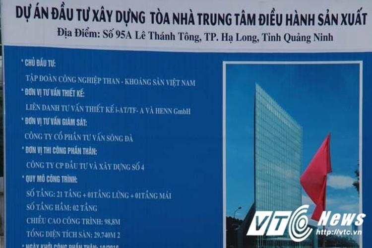 Can canh toa nha ngan ty cua TKV tai Quang Ninh