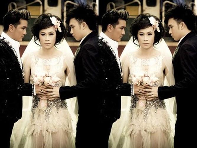 """Loat anh to quan he """"mo am"""" cua Dam Vinh Hung - Duong Trieu Vu"""