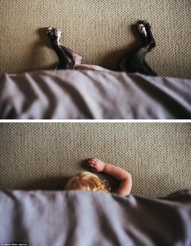Bạt cuòi xem bé và cún cung có bieu cam giong het nhau-Hinh-10
