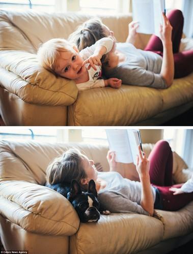 Bạt cuòi xem bé và cún cung có bieu cam giong het nhau-Hinh-11