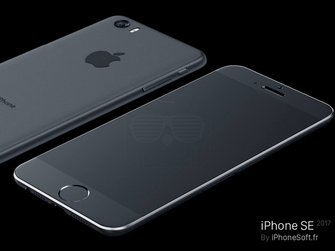 Can canh ve dep don tim cua concept iPhone SE 2017