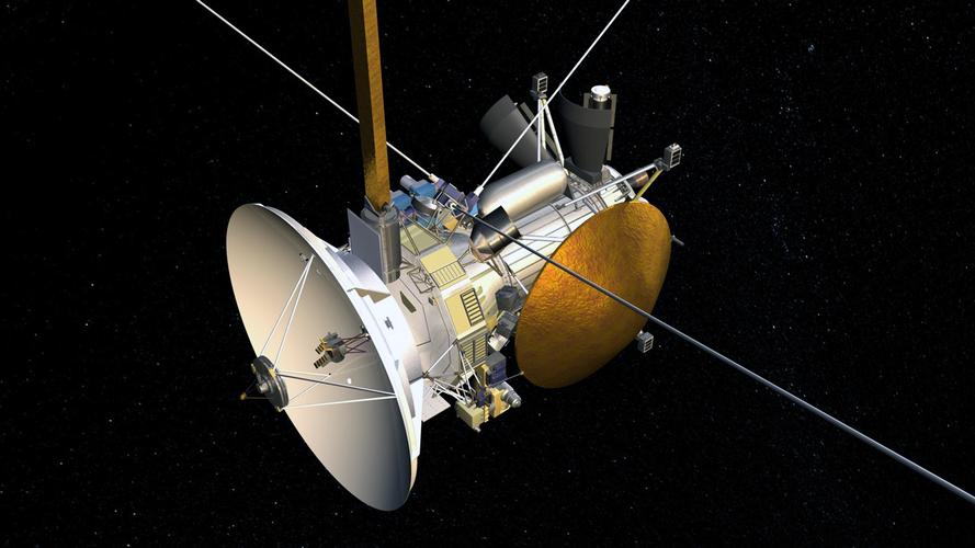 Anh quy hiem chup can canh dien mao tau vu tru Cassini cua NASA
