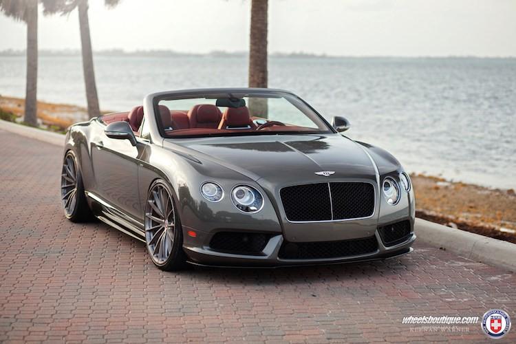 Bentley Continental GTC V8S dang cap the thao voi mam HRE