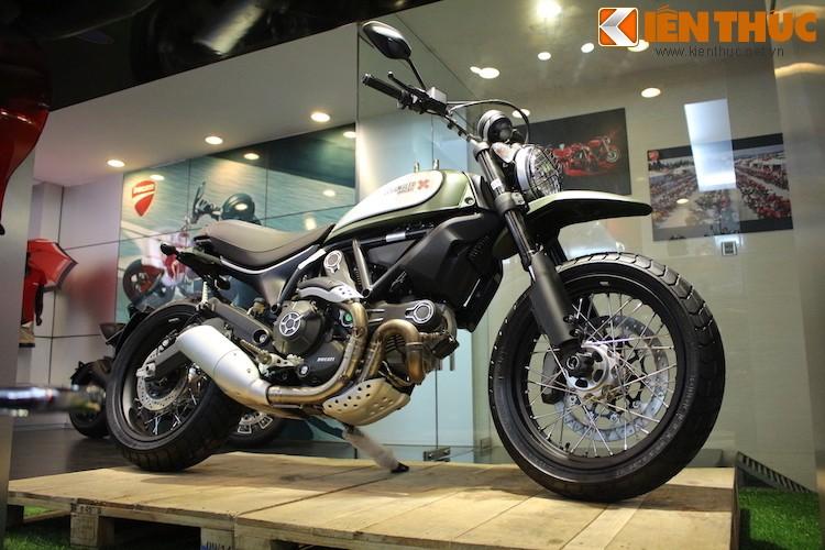 """Chien binh"" Ducati Scrambler Urban Enduro tai Ha Noi"
