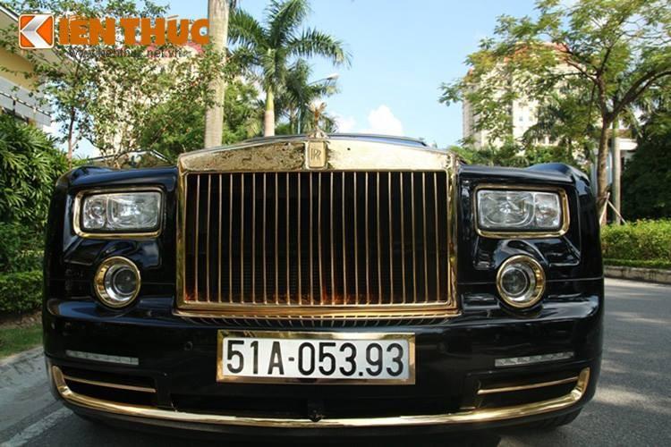 Dan sieu xe Rolls-Royce ma vang bien