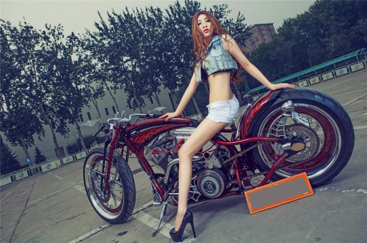 """Moto Harley-Davidson khung do dang """"chan dai den nach""""-Hinh-5"""