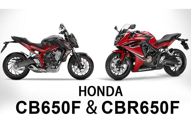 "Honda ""trinh lang"" cap doi moto CBR650F va CB650F 2017"