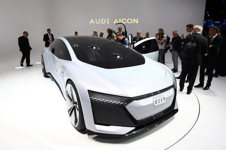 Sieu xe oto dien Audi Aicon tu lai 100% lo dien