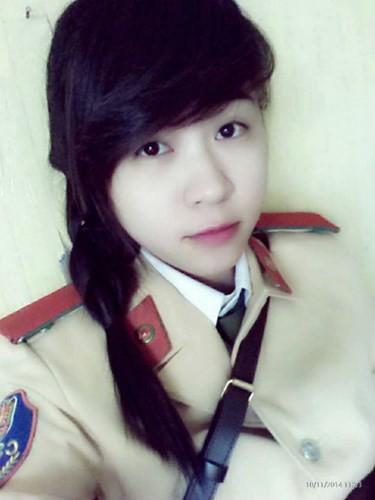 Ve dep cua hot girl Hoc vien Canh sat nhan dan-Hinh-8