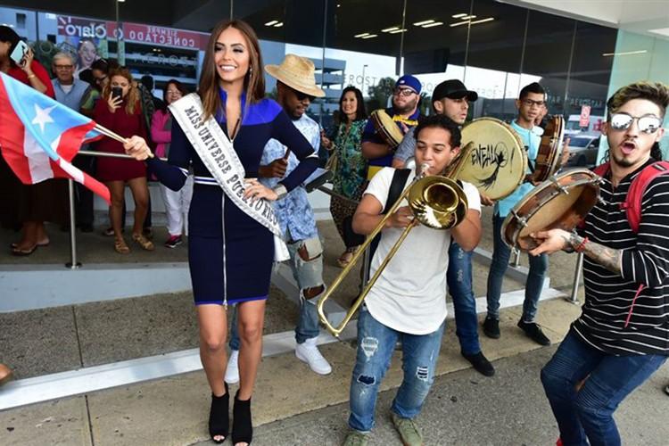 Thi sinh Miss Universe 2016 ram ro len duong di thi