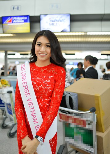 Pham Huong, Thien Ly tien Le Hang di thi Miss Universe 2016-Hinh-9