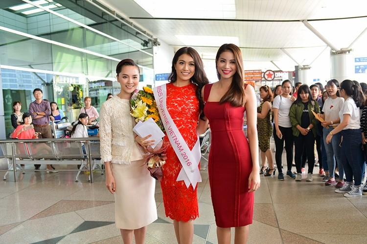 Pham Huong, Thien Ly tien Le Hang di thi Miss Universe 2016