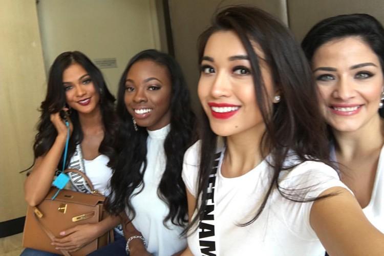 Hinh anh dau tien cua Le Hang tai Miss Universe 2016-Hinh-4