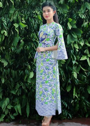My nhan Viet dep diu dang trong ao dai don Tet-Hinh-11