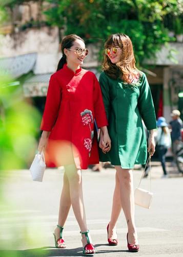 My nhan Viet dep diu dang trong ao dai don Tet-Hinh-3