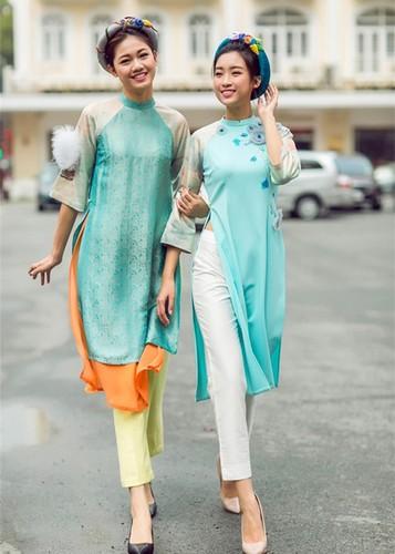 My nhan Viet dep diu dang trong ao dai don Tet-Hinh-4