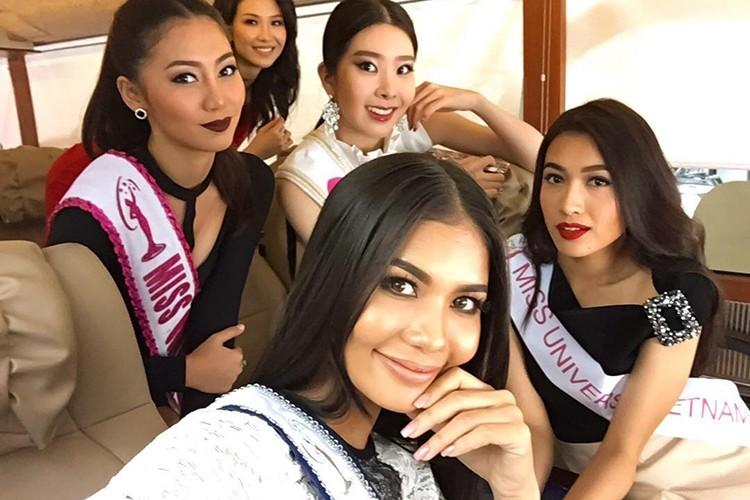 Do sac Le Hang va nguoi dep cung phong tai Miss Universe