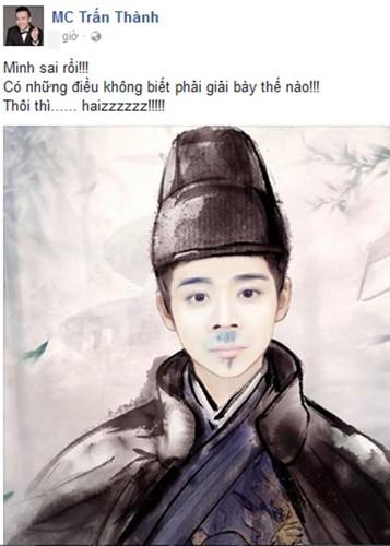 Nhung lan hiem hoi Tran Thanh len tieng nhan sai, xin loi-Hinh-12