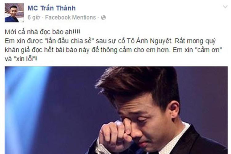 Nhung lan hiem hoi Tran Thanh len tieng nhan sai, xin loi-Hinh-7