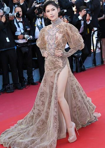 Ngoc Thanh Tam dien vay gan 1 ty tren tham do Cannes 2017