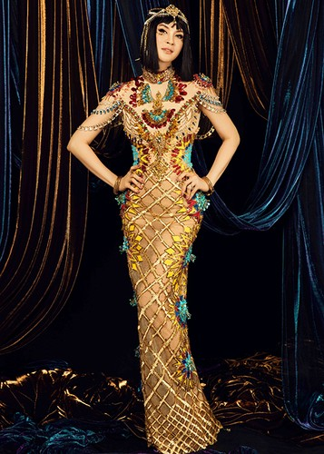 MC Thanh Mai dep kieu ky khi hoa than nu hoang Cleopatra-Hinh-2
