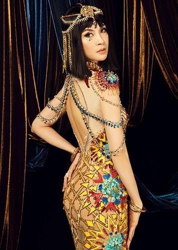 MC Thanh Mai dep kieu ky khi hoa than nu hoang Cleopatra